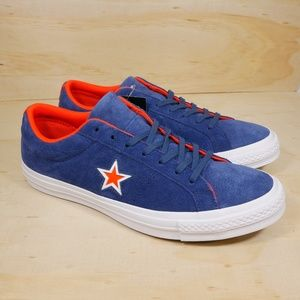 NEW Converse One Star OX Blue Orange Sneaker NWT